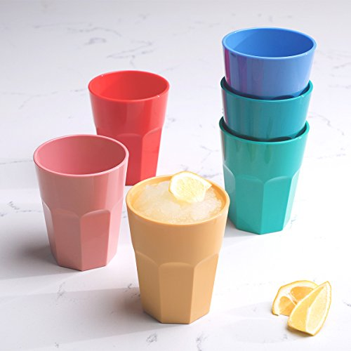 Cupture The Small Cup - Plastic Tumblers, 12 oz, 6-Pack (Assorted Colors) ()