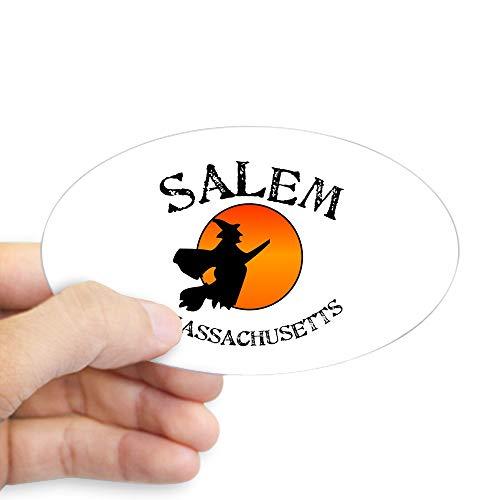 CafePress Salem Massachusetts Witch Oval Bumper Sticker, Euro Oval Car Decal ()