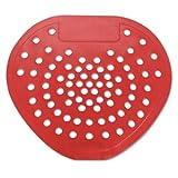 Hospeco Health Gards 03901 Cherry Deluxe Vinyl Deodorizing Urinal Screen Red (Case of 12)