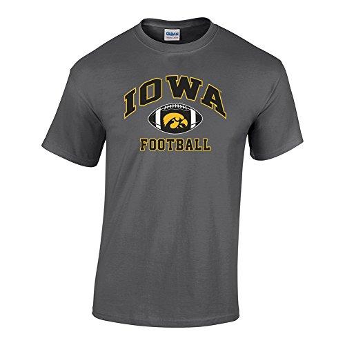- Elite Fan Shop NCAA Men's Iowa Hawkeyes Football T-shirt Dark Heather Iowa Hawkeyes Dark Heather Large