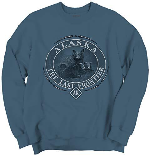 Alaska Last Frontier Mountain Bear Gift AK Crewneck Sweatshirt