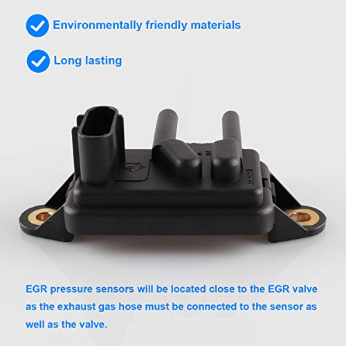 F7UE9J460AA Exhaust Gas Recirculation Pressure Feedback Sensor Recirculation Replaces DPFE15 VP8T Escape F77Z9J460AB F-150 Lincoln Town Car, F77Z9J460AB Focus Fits for Ford Expedition