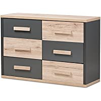 Baxton Studio 424-7962-AMZ Panni Modern 6-Drawer Chest, Regular