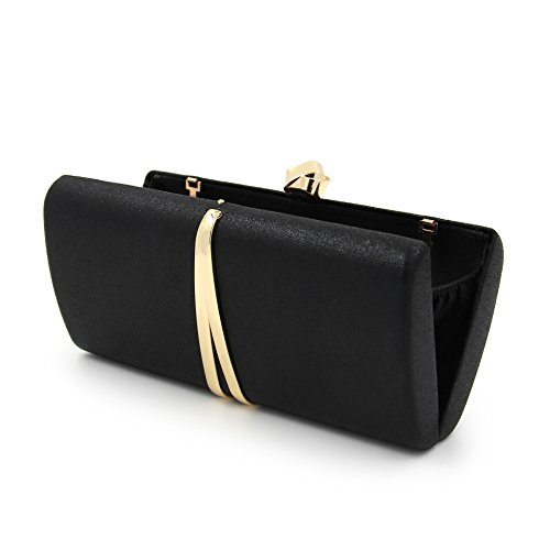 Evening Purses Party Black and Wedding Hard Chain Women Case with Prom Clutches for Bags wn1Sq