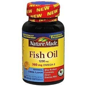 Nm Fish Oil 1200mg W/Lmn Size 60ct Nm Fish Oil 1200mg W/Lemon Essence 60ct
