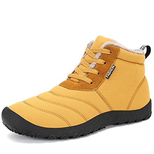 Insulated shoes Outdoor Waterproof Yellow Boots Snow 2018 Women's Winter HFxwOqPT7X