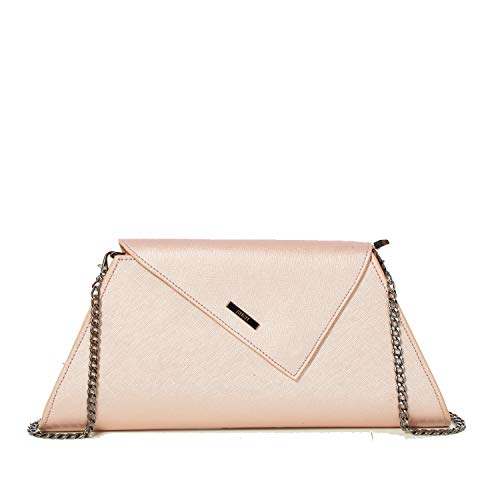 - Rose Gold Clutch Purses For Women Evening Bags and Clutches Light Pink Metallic Brush Leather Envelope Crossbody For Wedding and Party or Formal Event Dress up Handbags Bride Purse with Chain Strap