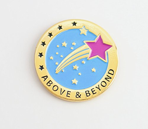 Above & Beyond Appreciation Greeting Card & Amazing Lapel Pin Gift, Perfect for Employee, Teacher, Student, Co-worker, Volunteer Recognition and Thanks Photo #3