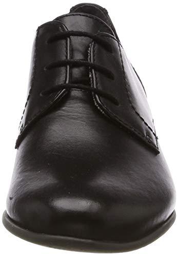 Nero black Donna 3 Stringate 22 Brouge 23218 Tamaris 1 Leather Scarpe 1 003 qwzFz8