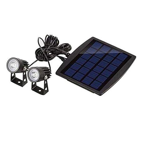 Solar Led Lámpara de césped Proyector Impermeable Jardín al aire ...