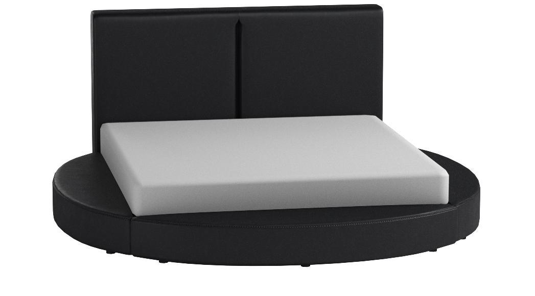 GREATIME B1159 Modern Round Bed,Queen,Black