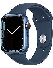 AppleWatch Series7 GPS+Cellular • 45mm aluminiumboett blå • Sportband bläckblå –standard