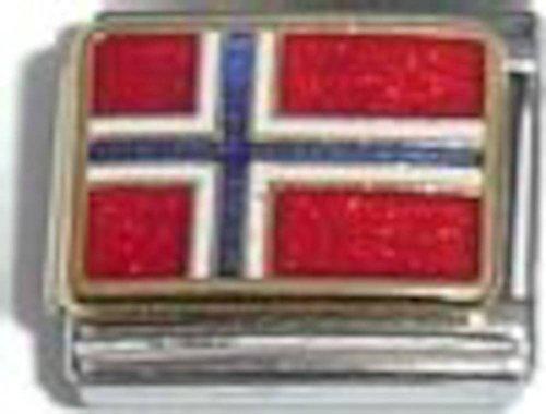 Flag Of Norway Italian Charm