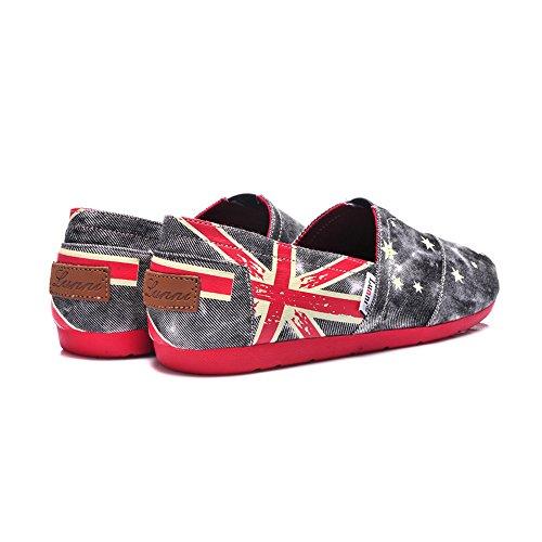 b187d574fb LUNNI Women's the British Flag Design Canvas Shoes Gray best - www ...