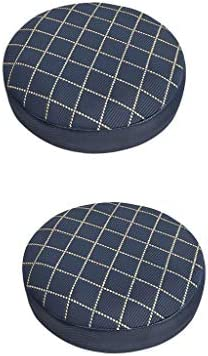 joyMerit スツールカバー 丸椅子カバー 椅子カバー ラウンドスツール 格子縞 滑り止め 丸形