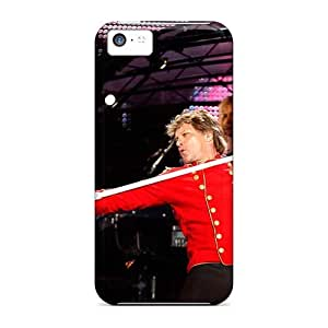 Anti-Scratch Cell-phone Hard Cover For Iphone 5c With Custom Vivid Bon Jovi Band Series MansourMurray