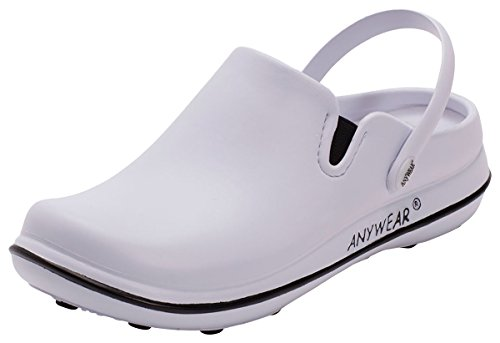 Price comparison product image AnyWear Women's Alexis Work Shoe,  White / Black,  8 M US
