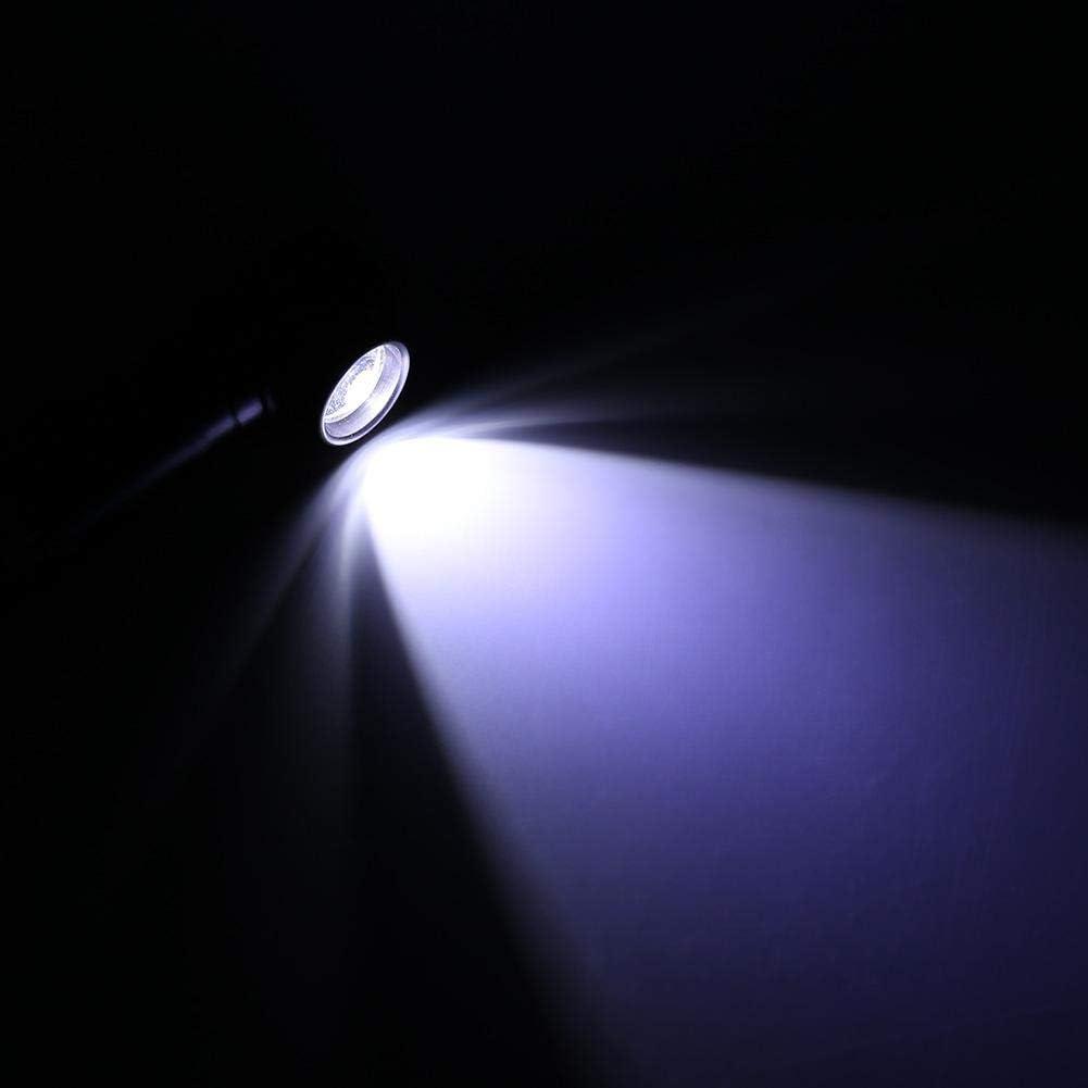 Fdit Socialme-EU Linterna de Inspecci/ón Telesc/ópica de Inspecci/ón de Cola Magn/ética Plegable Port/átil T6 LED