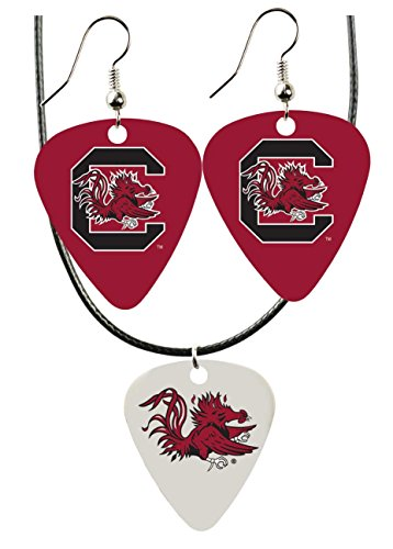 College Guitar CGPW1-SC Game Day Pick Wear Ear Ring Necklace Pack