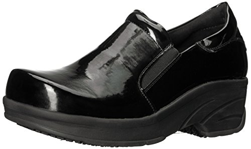 (Easy Works Women's Appreciate Health Care Professional Shoe Black Patent 6.5 M US)