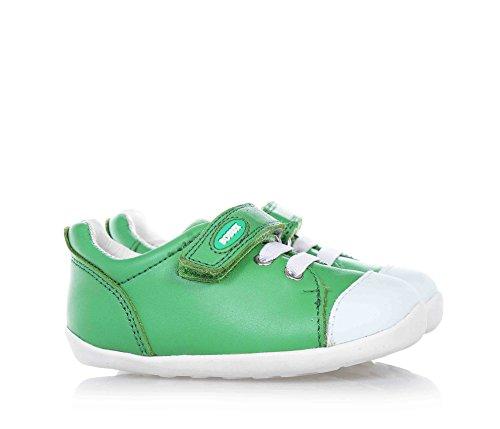 BOBUX - Scarpa verde, pelle traspirante, flessibile, realizzata con tinture e materiali non tossici, chiusura a strappo, lacci elasticizzati, Bambino-18