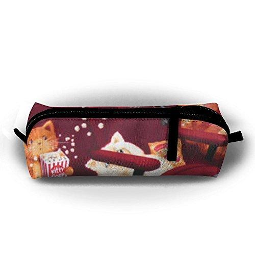 HUANGANGEL Cat Watch Movie 3D Printed DIY Kids Cartoon Zippered Pencil Case Pen Box Stationery Buggy Bag For Girls Boy by HUANGANGEL