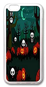 ACESR Cute Halloween Ghost Customize iPhone 6 Cases, TPU Case for Apple iPhone 6 (4.7inch) Transparent