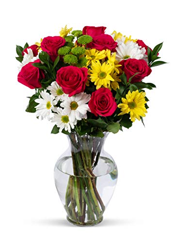 Get Well Sunflower Bouquet - Benchmark Bouquets Life is Good Flowers Hot, Pink, With Vase