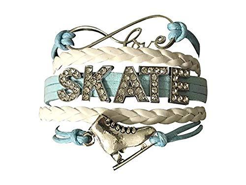 Sportybella Figure Skating Jewelry- Girls Figure Skating Charm Bracelet - Perfect Ice Skating Gifts