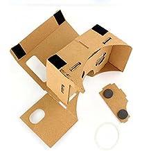 2016 Perman New for Google DIY Cardboard Quality 3D Glasses VR Virtual Reality Fit 4-6 Inch Screen Smartphones, iPhone, Google, Nexus 6, Samsung Mobile Phones