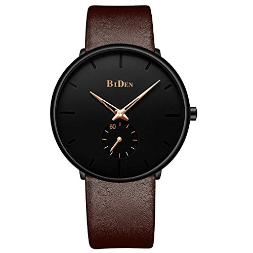Mens Watches Minimalist Ultra Thin Waterproof Fashion Dressy Wrist Watch for Men Business Casual Luxury Quartz Analog…