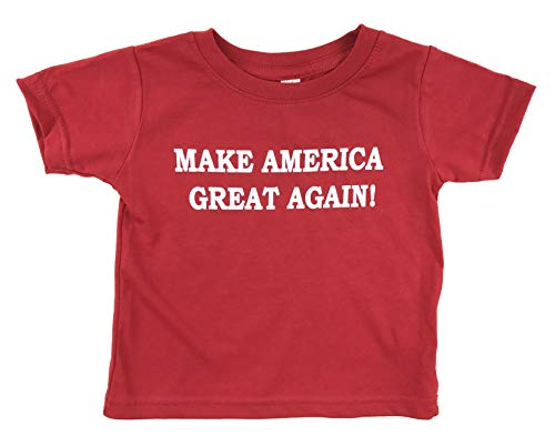 Again Toddler T-shirt - Donald Trump Make America Great Again Baby Toddler T Shirt (4, Red)
