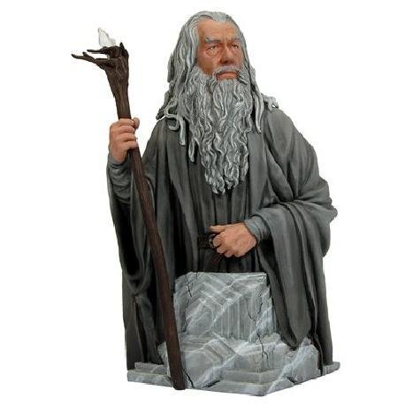 Gentle Giant Gandalf The Grey Bust Wit Light Up Staff - Bnib