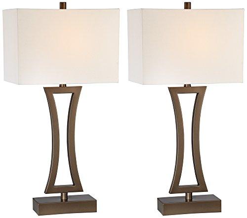 Roxie Bronze Metal Table Lamp Set of 2 (Bronze Table Column Lamp)
