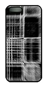 Protective PC Case Skin for iphone 5 Black PC Case Back Cover Shell for iphone 5S with Abstract