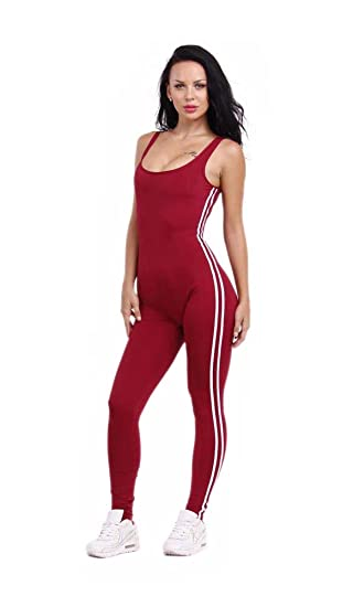 Amazon.com: Workout Clothes for Women Sport Jumpsuit Yoga ...