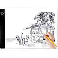 A4 Light Box, BTGGG Portable LED Tracing Light Pad Weeding Vinyl Dimmable Brightness LED Drawing Pad Table Stencil…