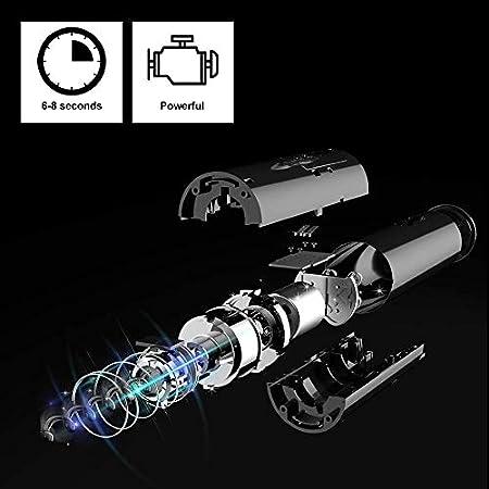 Cokunst - Abrebotellas de vino eléctrico, sacacorchos eléctrico automático con cortador de papel de aluminio, con un solo clic, reutilizable, para el hogar, cocina, fiesta o bar