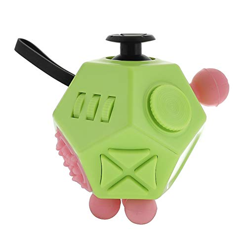 Fidget Dice Anti-anxiety and Depression Cube for Children and Adults (Green)