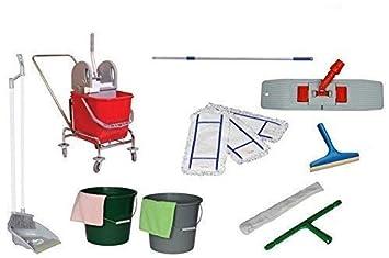 Nova Eco Double chariot de nettoyage de conduite Set Wisch Chariot Kit de nettoyage 13pi/èces