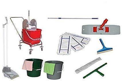 Aura superior individual fácil carro wischset carrito de limpieza, cubo de fregona, trolley carros
