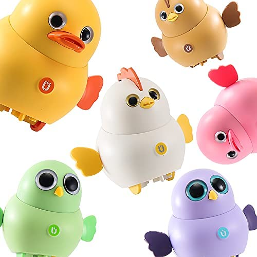 RRLOM Electronic Pets Crawling Toy for Baby Swinging Animal Team, Not Include Battery (6 PCS)