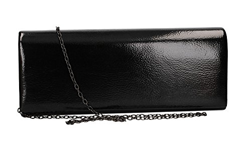 MOON Clutch bag opening VN2336 elegant ceremony MICHELLE button woman black rxx4B