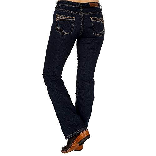 Rock N Roll Cowgirl Womens Extra Stretch Dark Wash Riding Jeans 27 38 Dark Blue
