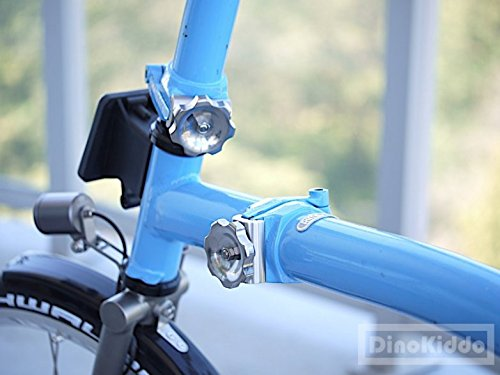 Titanium Silver Easy Shell Hinge Clamps Lever for Brompton Folding Bike - Dino Kiddo by Dino Kiddo (Image #6)