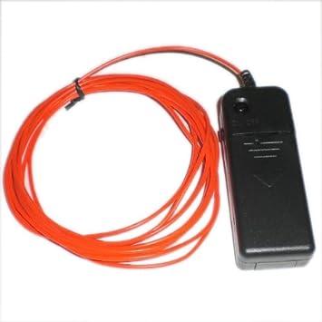 Amazon.com: TOOGOO(R) 9ft Red Neon Glowing Strobing Electro ...