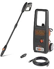Black+Decker 1400W 110Bar Pressure Washer Cleaner for Home, Garden and Cars, Orange/Black - BXPW1400E-B5, 2 Years Warranty