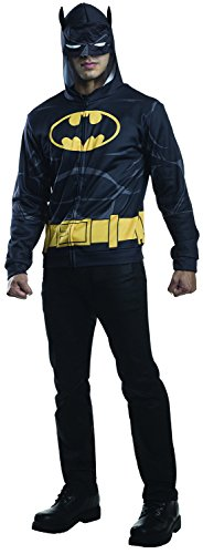 Rubie's Costume Co Men's Batman Hoodie, Black, (Batman Cosplay Costume For Sale)