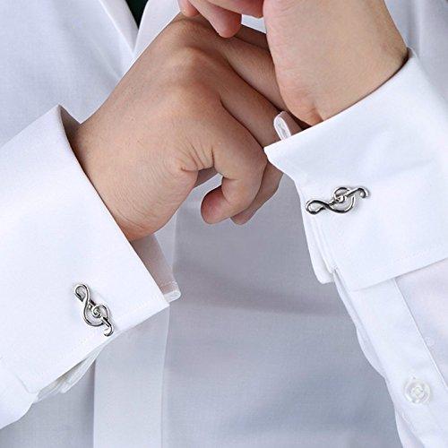 Fablcrew Fashion gemelli da uomo donna musica simbolo camicia gemelli Business regalo di nozze present