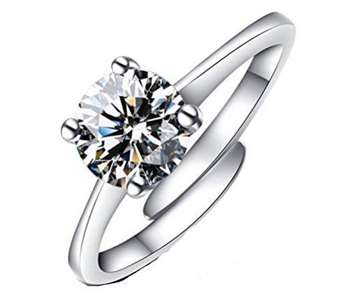 Omos Women Finger Rings Diamond Wedding Adjustable Finger Opening